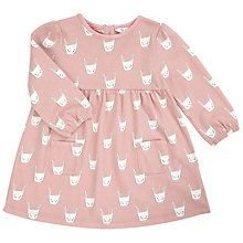 Buy John Lewis Baby's Bunny Print Dress, Pink Online at johnlewis.com
