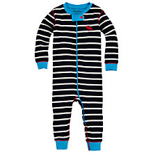 Buy Hatley Striped Footless Sleepsuit, Navy/White Online at johnlewis.com