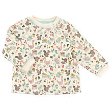 Buy John Lewis Baby's Quilted Woodland Print Sweatshirt, Cream Online at johnlewis.com