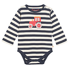 Buy Frugi Baby Tractor Bodysuit, Multi Online at johnlewis.com