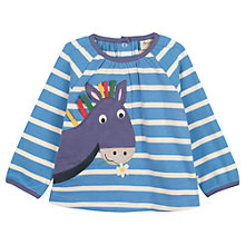 Buy Frugi Baby Ella Donkey Top, Blue/White Online at johnlewis.com