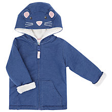 Buy John Lewis Baby's Mouse Zipper Sweatshirt, Navy Online at johnlewis.com