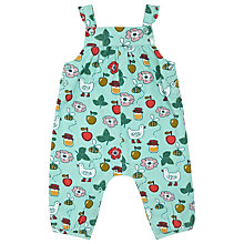 Buy John Lewis Baby's Bee Print Cord Dungarees, Turquoise Online at johnlewis.com