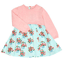 Buy John Lewis Baby's Flower Pot Knit Top Dress, Pink/Blue Online at johnlewis.com