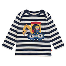 Buy Frugi Baby Bobby Digger Striped T-Shirt, Multi Online at johnlewis.com