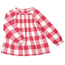 Buy John Lewis Baby Gingham Dress, Berry/White Online at johnlewis.com