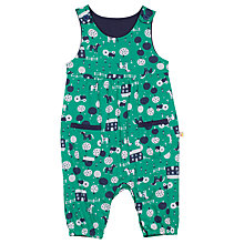 Buy Frugi Baby Countryside Print Dungarees, Green/Multi Online at johnlewis.com