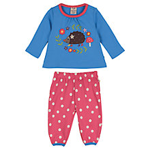 Buy Frugi Baby Molly Top and Trouser Set, Blue/Multi Online at johnlewis.com