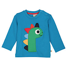 Buy Frugi Baby Dinosaur Long Sleeve T-Shirt, Blue Online at johnlewis.com