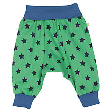 Buy Frugi Baby Parsnip Star Pants, Green/Navy Online at johnlewis.com