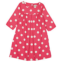 Buy Frugi Organic Girls' Darcy Polka Dot Dress Online at johnlewis.com