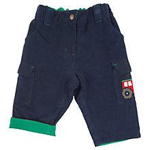Buy Frugi Baby Cord Combat Trousers, Navy Online at johnlewis.com