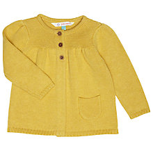 Buy John Lewis Baby's Knitted Marl Cardigan, Yellow Online at johnlewis.com