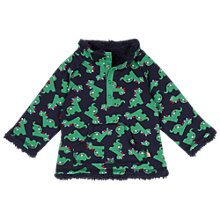 Buy Frugi Baby Snuggle Reversible Dinosaur Fleece, Navy/Green Online at johnlewis.com