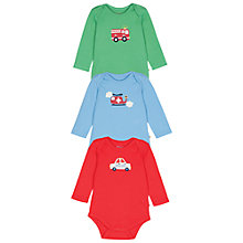 Buy Frugi Baby Transport Bodysuit, Pack of 3, Multi Online at johnlewis.com