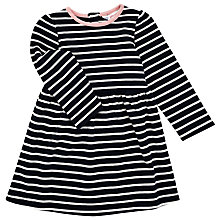 Buy John Lewis Baby's Jersey Dress, Navy Online at johnlewis.com