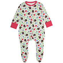 Buy Frugi Baby Lovely Hedgehog Babygrow, Multi Online at johnlewis.com