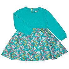 Buy John Lewis Baby's Knit Top Floral Dress, Blue Online at johnlewis.com