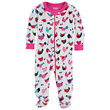 Buy Hatley Baby Chicken Sleepsuit, Cream Online at johnlewis.com