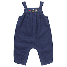 Buy John Lewis Baby's Embroidered Cord Dungarees, Navy Online at johnlewis.com