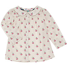 Buy John Lewis Baby Apple Print Blouse, Multi Online at johnlewis.com