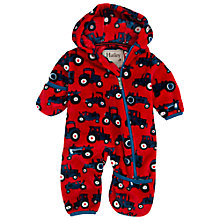 Buy Hatley Baby Tractor Snugglesuit, Red Online at johnlewis.com