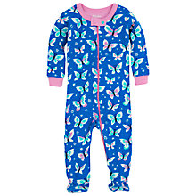 Buy Hatley Baby Butterfly Sleepsuit, Blue Online at johnlewis.com