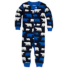 Buy Hatley Polar Bear Print Footless Sleepsuit, Navy Online at johnlewis.com