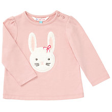 Buy John Lewis Fluffy Bunny Long Sleeve T-Shirt, Pink Online at johnlewis.com