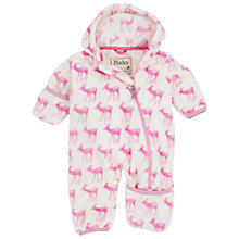 Buy Hatley Baby Deer Snugglesuit, Cream/Pink Online at johnlewis.com