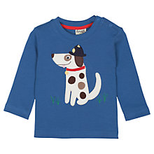 Buy Frugi Baby Police Dog Long Sleeve T-Shirt, Blue Online at johnlewis.com