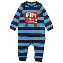 Buy Frugi Baby Charlie Engine Babygrow, Multi Online at johnlewis.com
