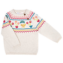 Buy John Lewis Baby's Duck Jumper, White Online at johnlewis.com