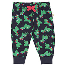 Buy Frugi Baby Knee Patch Dinosaur Crawlers, Navy/Multi Online at johnlewis.com