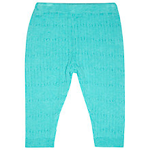 Buy John Lewis Baby's Cable Knit Leggings, Blue Online at johnlewis.com