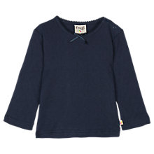 Buy Frugi Baby Mia Pointelle Top, Navy Online at johnlewis.com