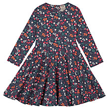 Buy Frugi Girls' Sofia Woodland Dress, Blue Multi Online at johnlewis.com