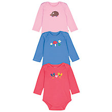 Buy Frugi Baby Hedgehog Bodysuit, Pack of 3, Multi Online at johnlewis.com