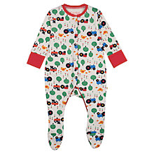 Buy Frugi Baby Lovely Farm Babygrow, Multi Online at johnlewis.com