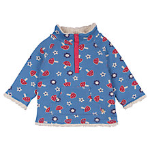 Buy Frugi Baby Snuggle Reversible Fleece, Blue/Multi Online at johnlewis.com