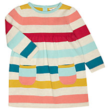 Buy John Lewis Baby's Striped Knit Dress, Multi Online at johnlewis.com
