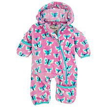 Buy Hatley Baby Butterfly Snuggle Pramsuit, Pink/Blue Online at johnlewis.com