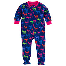 Buy Hatley Deer Print Fleece Romper, Navy/Multi Online at johnlewis.com