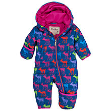 Buy Hatley Baby Deer Print Snowsuit, Navy Online at johnlewis.com