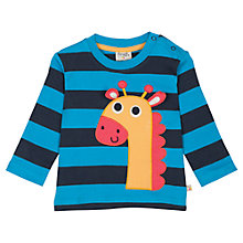 Buy Frugi Baby Alfie Giraffe Top, Multi Online at johnlewis.com
