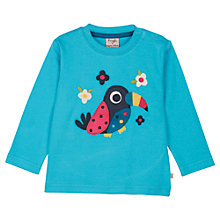 Buy Frugi Baby Toucan Long Sleeve Toucan T-Shirt, Multi Online at johnlewis.com