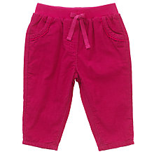 Buy John Lewis Baby Cord Trousers, Berry Online at johnlewis.com