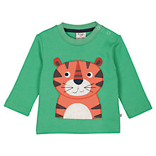 Buy Frugi Baby Discovery Tiger Long Sleeve T-Shirt, Multi Online at johnlewis.com