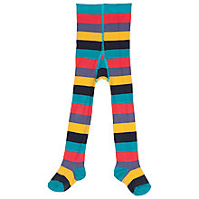 Buy Frugi Children's Zoe Stripe Tights, Multi Online at johnlewis.com