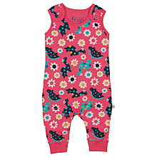 Buy Frugi Baby Dino Kneepatch Dungarees, Multi Online at johnlewis.com
